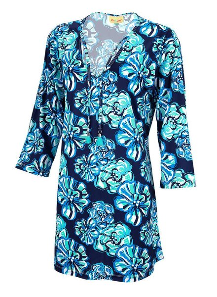 Wholesale Boutique Floral Print Beach Tunic