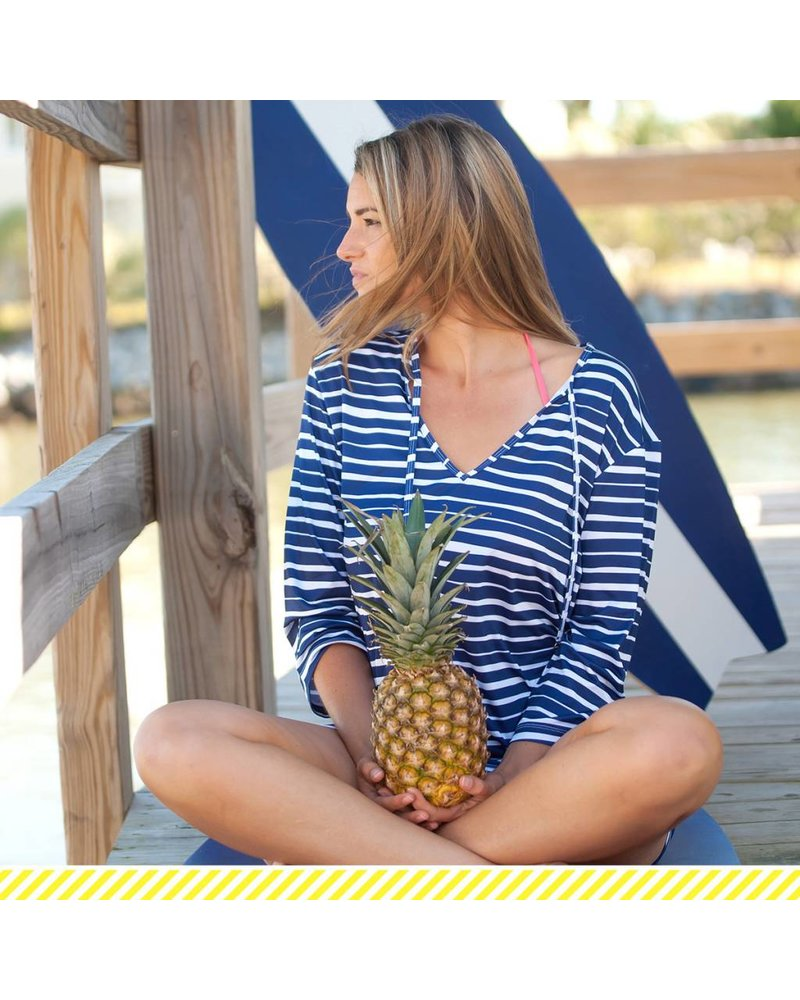 Wholesale Boutique Navy & White Striped Beach Tunic