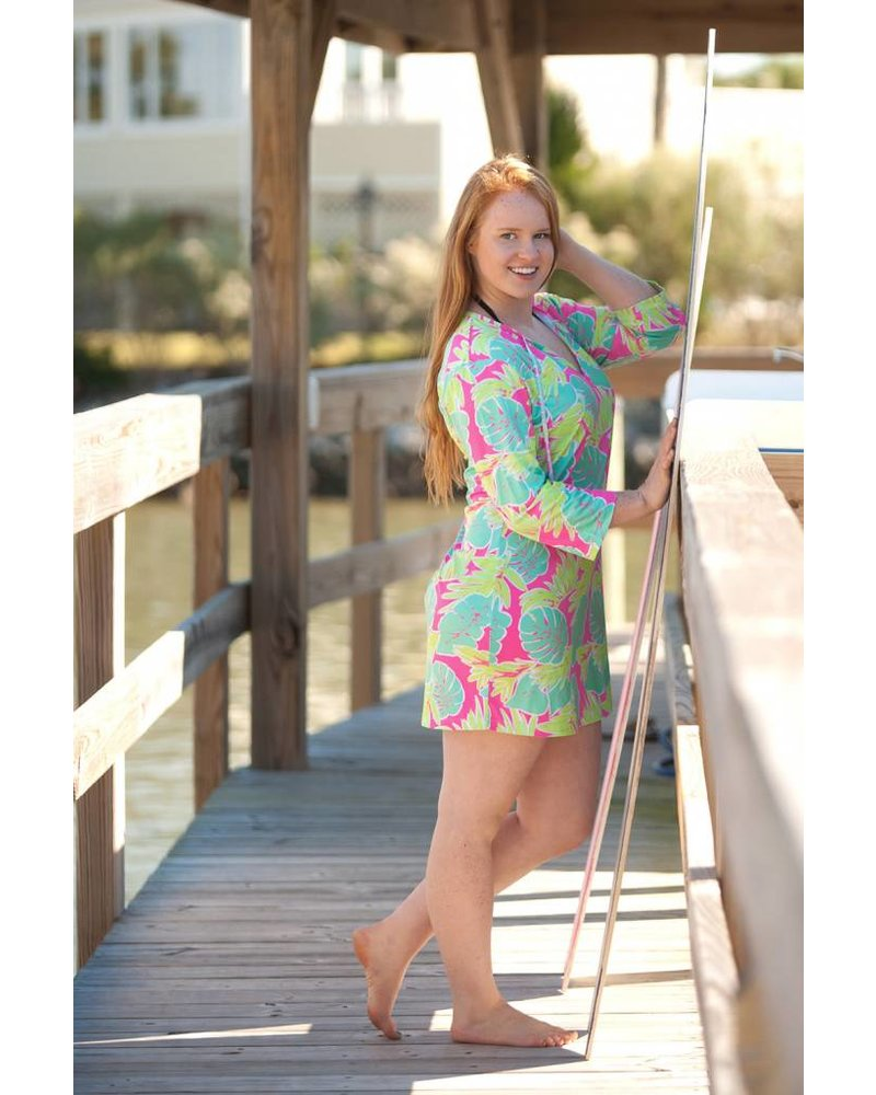 Wholesale Boutique Palm Leaf Beach Tunic