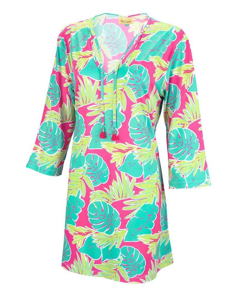 Wholesale Boutique Palm Leaf Beach Tunic