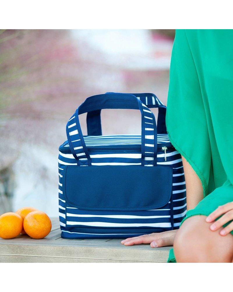 Wholesale Boutique Blue & White Striped Cooler Bag
