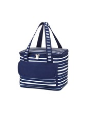 Wholesale Boutique Personalized Navy Striped Cooler Bag