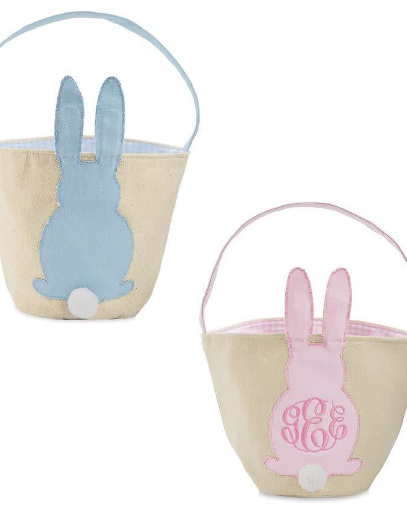 0fbafc6338a Mudpie Canvas Easter Bunny Basket - - Initial Styles Jupiter