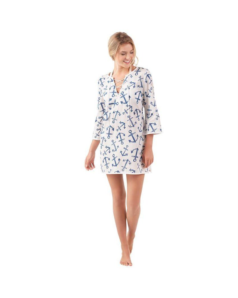 Mudpie Blue Anchor Coverup