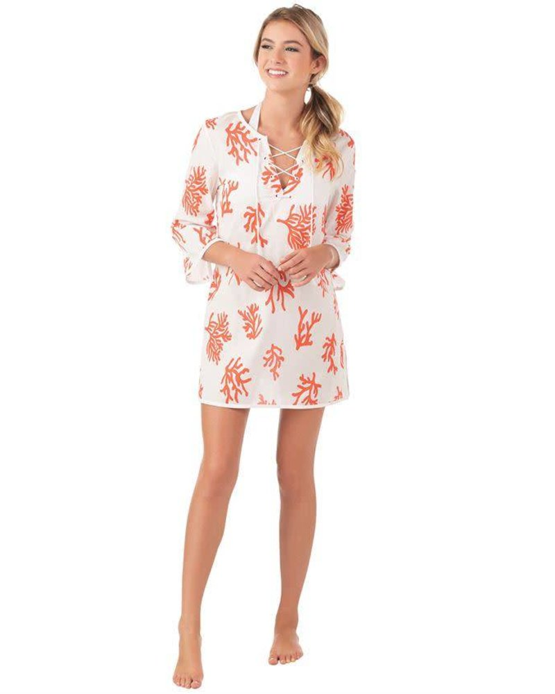 Mudpie Red Coral Coverup