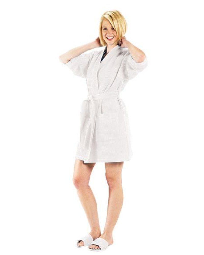 Terry Town Waffle Weave Robe