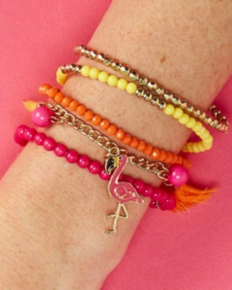 Two's Company Flamingo Bracelet Set