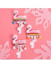 Two's Company Flamingo Bracelet Set (3 Color Choices)