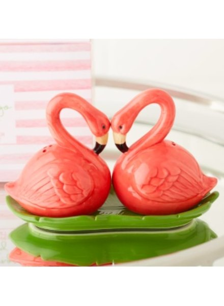 Two's Company Flamingo Salt & Pepper Shakers