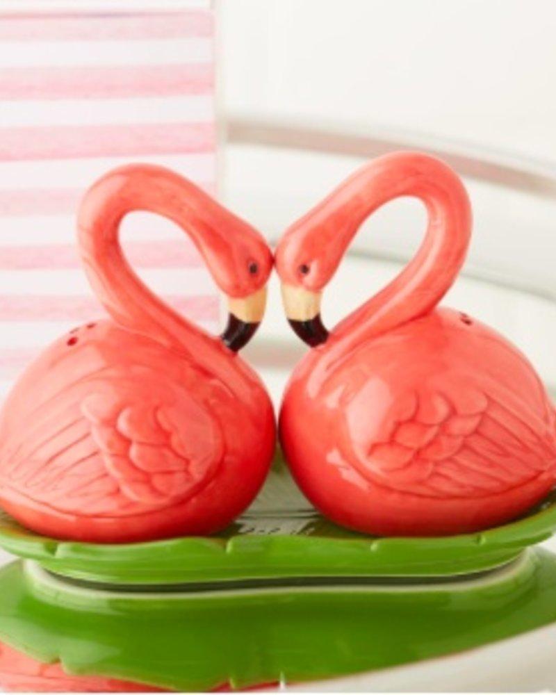 Two's Company Flamingo Salt & Pepper Shakers