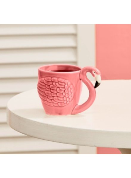Two's Company Flamingo Teacup