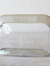 ROYAL STANDARD Metallic Trim Clear Cosmetic Bag (2 Color Options)