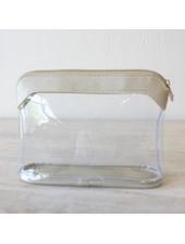 ROYAL STANDARD Metallic Trim Cosmetic Bag