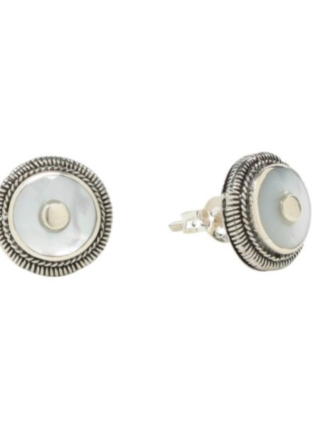 Sea Lustre Mother of Pearl Stud Earrings