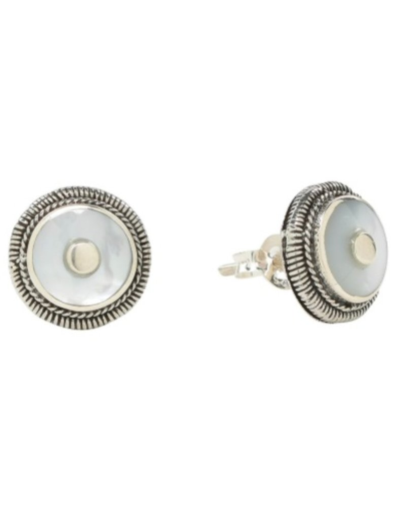 Sea Lustre Mother of Pearl Disc Studs