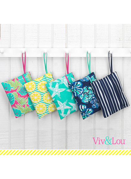 Wholesale Boutique Beach Zip Pouch (6 Print Choices)