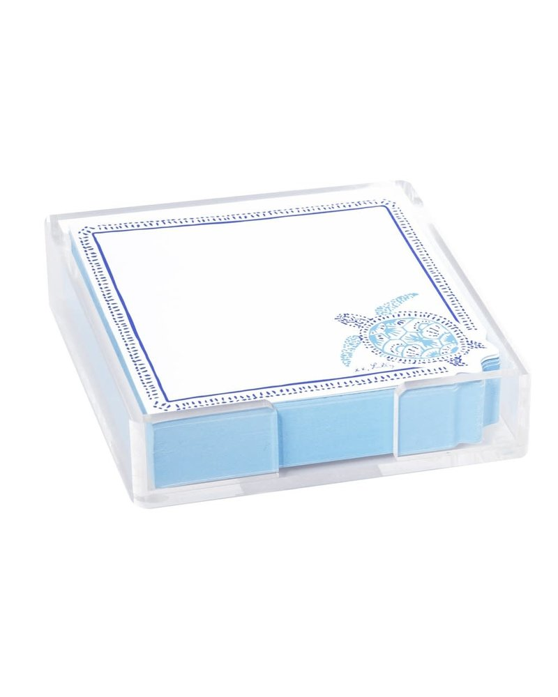 Lilly Pulitzer Turtley Awesome Acrylic Holder & Notes
