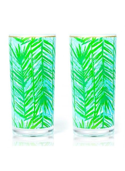 Lilly Pulitzer Costa Verde Hi Ball Glasses