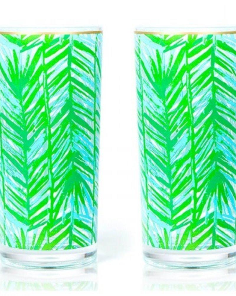 Lilly Pulitzer Costa Verde Hi Ball Glasses