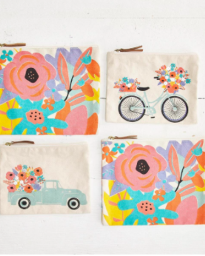 Two's Company Flower Market Set of 2 Pouches
