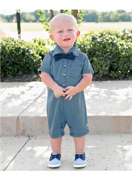 Light Denim Boys Romper