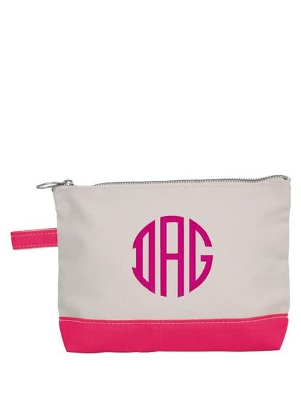 CB Station Monogrammed Make Up Bag - 8 Color Options