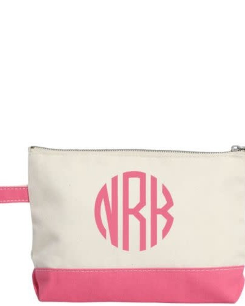 CB Station Monogrammed Canvas Make Up Bag