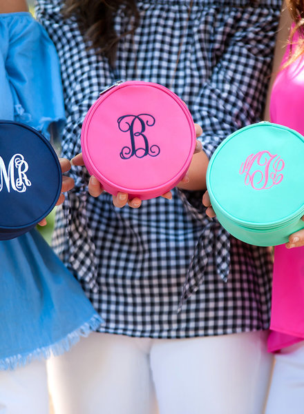 Wholesale Boutique Monogrammed Jewelry Case - 4 Color Options