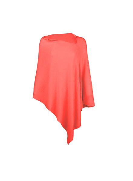 Wholesale Boutique Monogrammed Coral Poncho