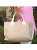Wholesale Boutique Monogrammed Burlap Tote Bag