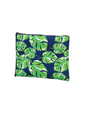 Wholesale Boutique Palm Leaf Zip Pouch