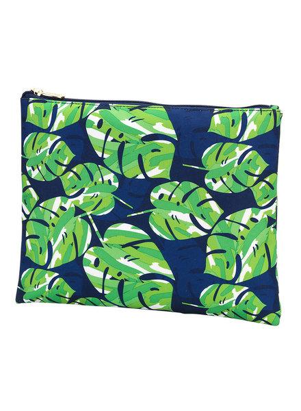 Wholesale Boutique Palm Leaf Zip Pouch