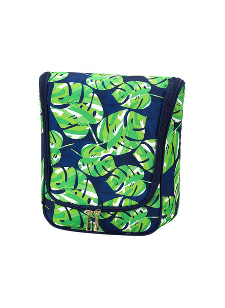 Wholesale Boutique Palm Leaf Hanging Travel Case