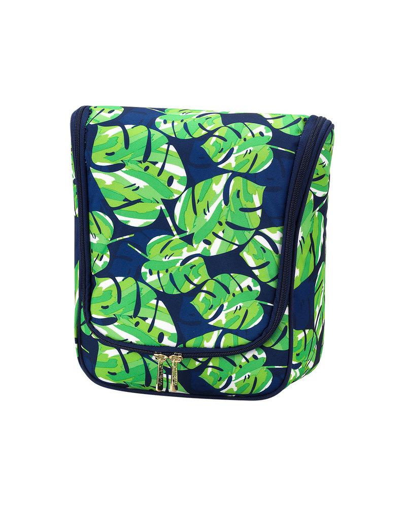 Wholesale Boutique Palm Leaf Hanging Toiletry Bag