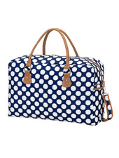 Wholesale Boutique Navy & White Weekender Bag