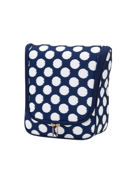 Wholesale Boutique Navy & White Hanging Travel Case