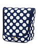 Wholesale Boutique Navy Polka Dot Hanging Toiletry Case