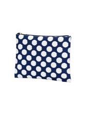 Wholesale Boutique Navy & White Zip Pouch