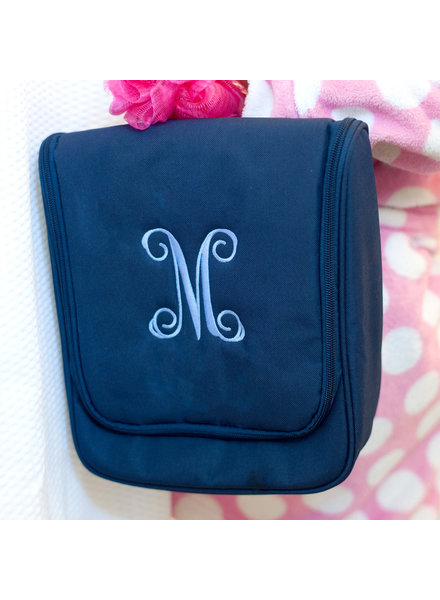 Wholesale Boutique Monogrammed Hanging Travel Case (4 colors)