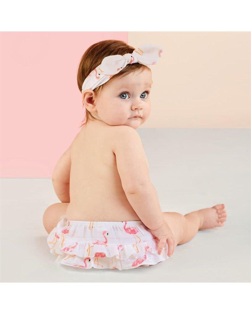 Mudpie Flamingo Headband & Bloomers Set