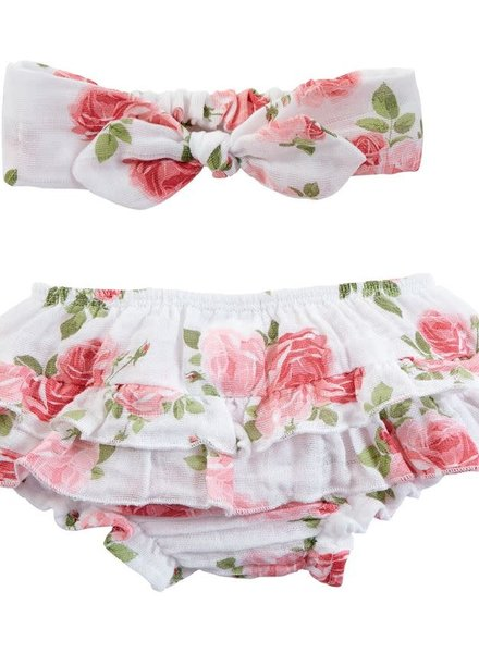 Mudpie Rose Headband & Bloomers Set