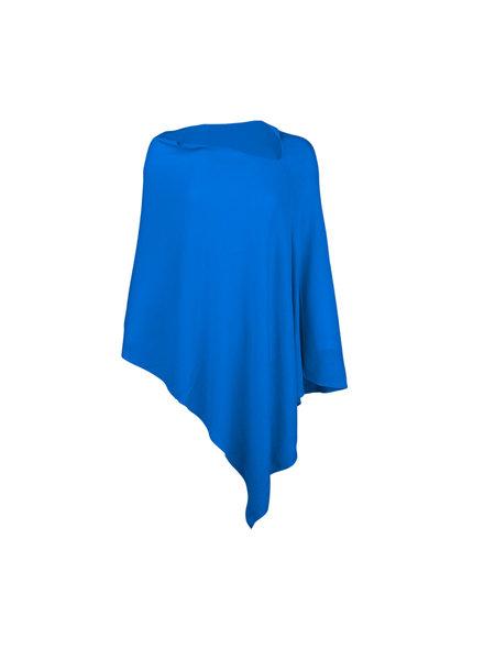 Wholesale Boutique Royal Blue Chelsea Poncho - Monogram Included