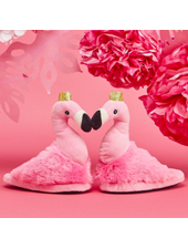 Two's Company Flamingo Children's Slippers