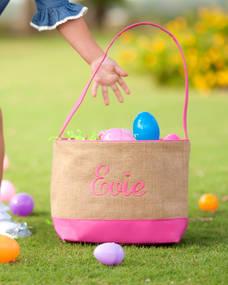 Wholesale Boutique Burlap Easter Bucket