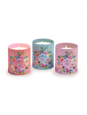 Two's Company Floral Candle In Gift Box - Faith - Hope - Love