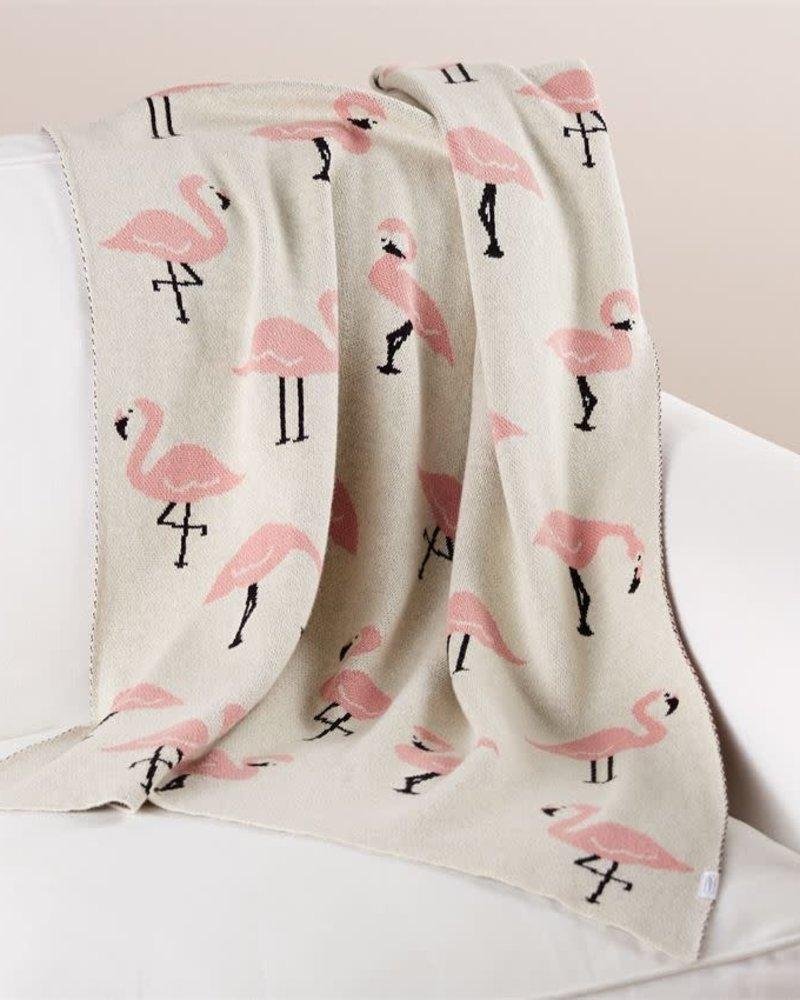 Mudpie Flamingo Baby Blanket