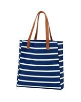 Wholesale Boutique Striped Tote Bag - 5 Color Options