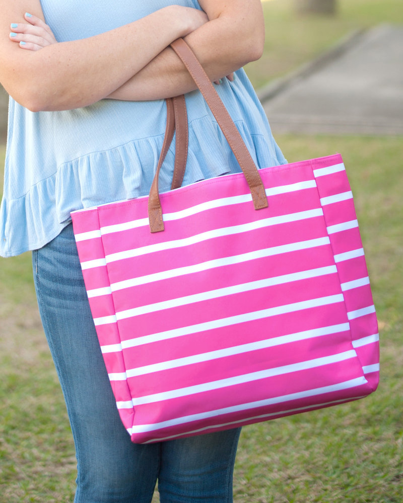 Wholesale Boutique Striped Tote Bag