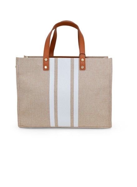 Canvas Purse With Stripe