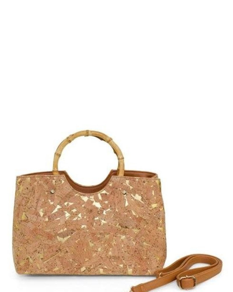 Cork Purse With Bamboo Handles
